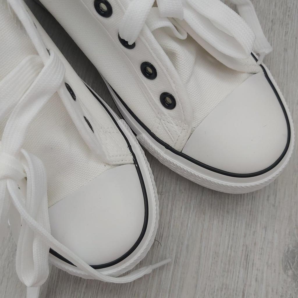 Womens Blue Textile Chunky Platform Slip On Canvas Shoes *Sale Price*