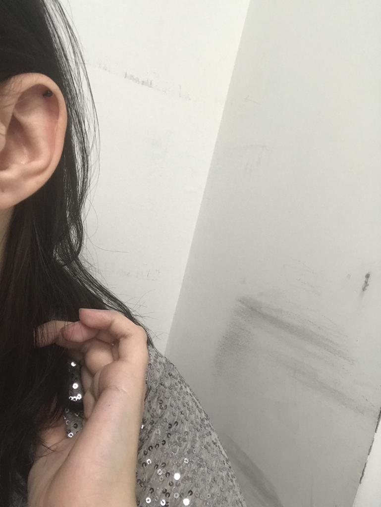 QA/_ Women Punk Barbell Ear Cartilage Helix Tragus Stud Earring Bar Piercing Ey