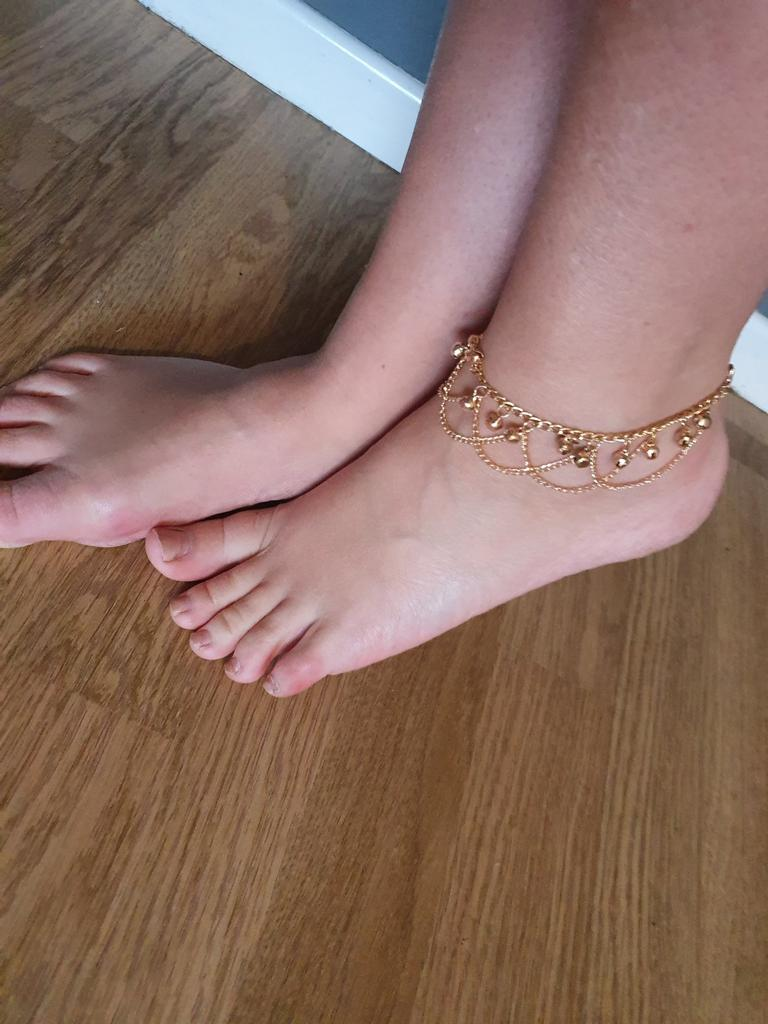 Details about  /Gold Color Tassel Chain Bells Bead Barefoot Beach Ankle Jewelry Bracelet Strap