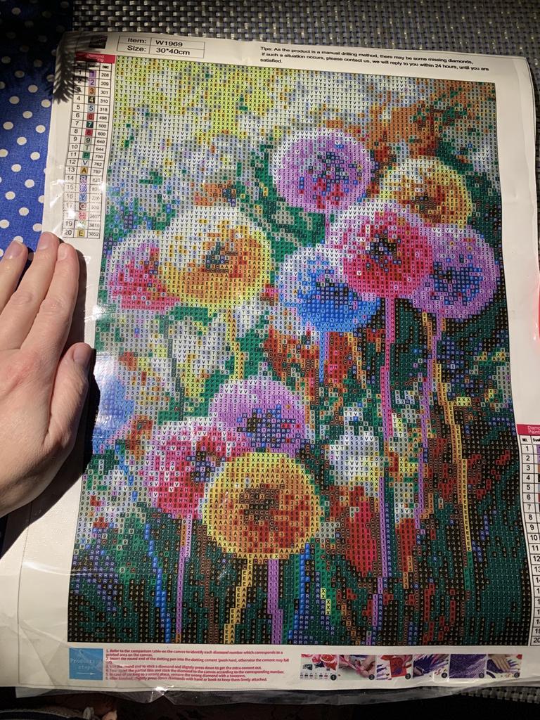 5D DIY Full Drill Diamond Painting Dandelion Cross Stitch Embroidery Mosaic BEST