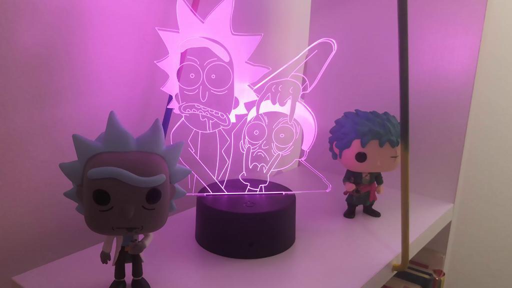 LED Illusion Night Light 3D Rick and Morty per bambini Camera da letto Luce decorativa Cool Baby Child Nightlight Regalo Colore Cambiamento Lampada 3D