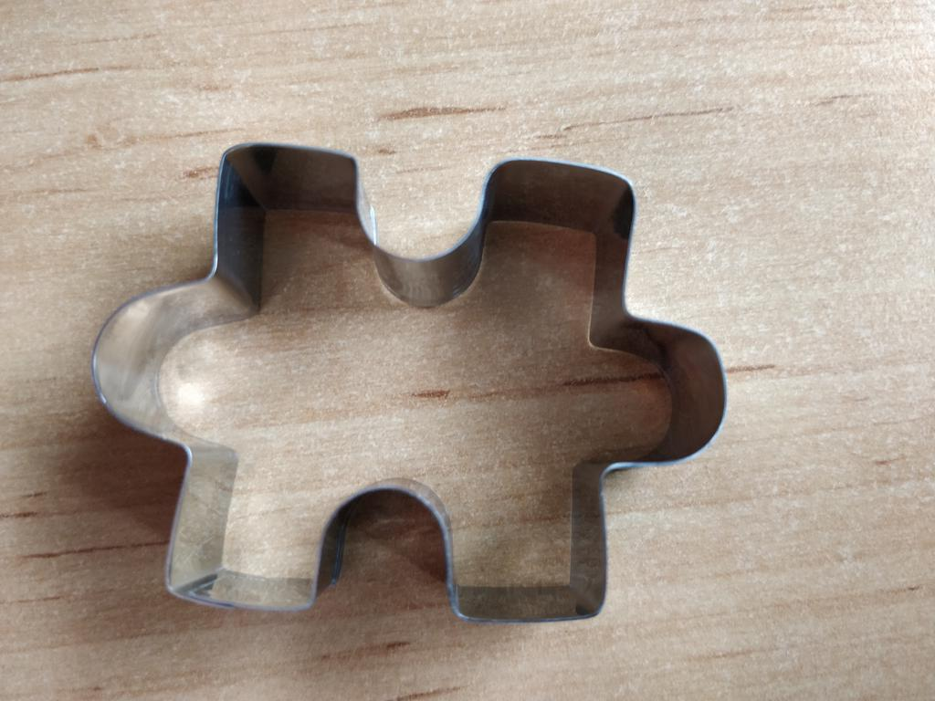 New Stainless Steel Cake Mold Puzzle Cookie Cutter Autism